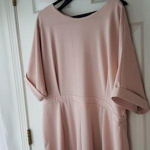 Asos Blush Pink Structured Dress - 18